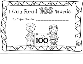 I Can Read 100 Words Book
