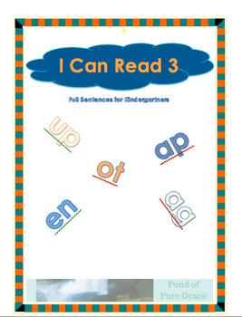 I Can Read 3 - Full Sentences for Kindergartners