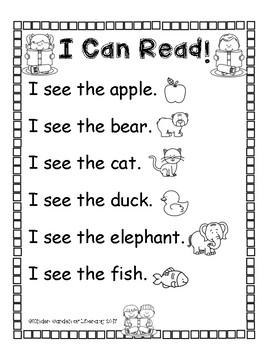 I Can Read ABC Words