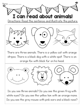 I Can Read About Anything! No Prep Read and Color! (Preview Freebie!)