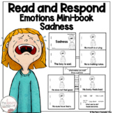 I Can Read About Being Sad Early Reader Take Home Book Sight Word Reader
