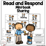 I Can Read About Sharing Early Reader Take Home Book Sight Word Reader