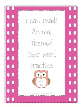 I Can Read! Animal Words and Color Words!
