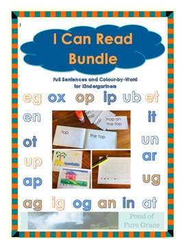 I Can Read Bundle: Full Sentences and Colour-by-Word for Kindergartners