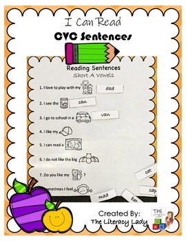 I Can Read CVC Sentences!