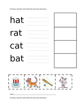 I Can Read CVC Words! A Write, Cut and Paste Activity