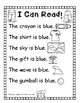 I Can Read Color Words-black & white