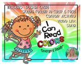 I Can Read Colors Emergent Reader
