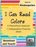 I Can Read Colors! - a beginning reader series on color words! - No Prep!