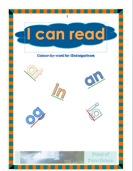 I Can Read: Colour-By-Word for Kindergartners