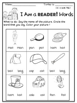 I Can Read! CvC Word pack for Beginner Readers