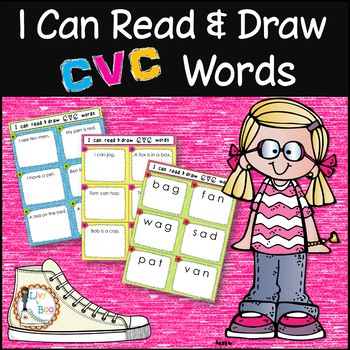 I Can Read & Draw CVC Words - 180 Phonics Sounding Cards