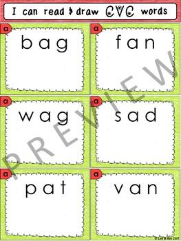 I Can Read & Draw CVC Words - 180 Phonics Sounding Cards