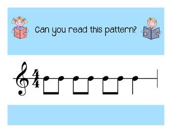 I Can Read! Duple Rhythm Patterns Level 1