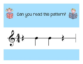 I Can Read!  Duple Rhythm Patterns Level 2