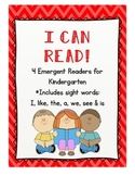 I Can Read! Emergent Readers for Kindergarten