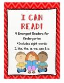 I Can Read! Emergent Readers for Kindergarten