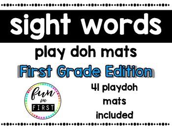 Sight Word Play Doh Mats:  First Grade Edition