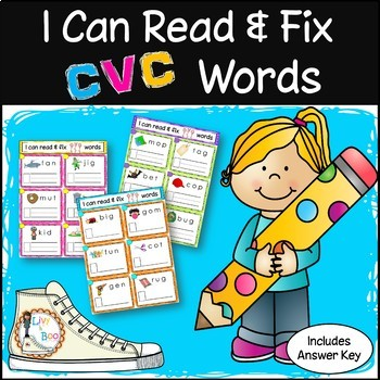 I Can Read & Fix CVC Words - 120 Phonics Sounding / Spelling Cards