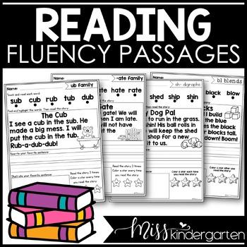 I Can Read Fluency Passages {short & long vowel bundle}