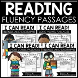 I Can Read Fluency Passages {short & long vowel bundle}
