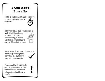 I Can Read Fluently Bookmark