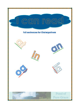 I Can Read - Full Sentences for early Kindergartners