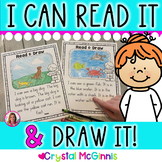 I Can Read It, I Can Draw It! Reading Comprehension Passages for Kindergarten