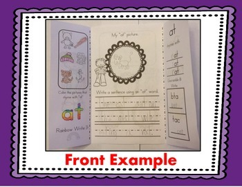 I Can Read It, Write It, & Use It! Rhyming & CVC Word Family Activity Foldables