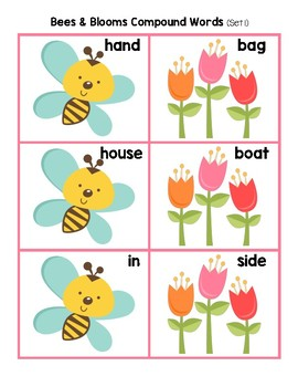 Bees & Blooms Compound Words Grammar Pack (I Can Read It! Lesson 35 - Sets 1-4)