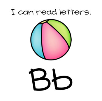 I Can Read Letters Center Signs