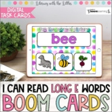 I Can Read Long E Words BOOM Cards | Digital Task Cards |