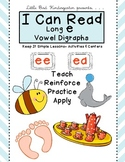 I Can Read Long e Vowel Digraphs Keep It Simple Literacy Activities & Centers
