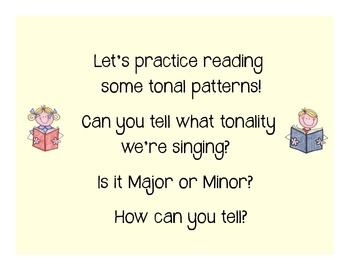 I Can Read!  Major Tonality Patterns Level 1