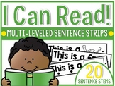 I Can Read! Multi-Leveled One-to-One Sentence Strips