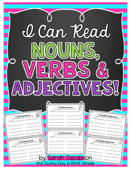I Can Read Nouns, Verbs & Adjectives
