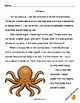Ocean Creatures Grades 1 & 2 Literacy Centers