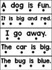 One-to-One Fluency Sentences: Pre-Primer Edition