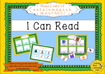 I Can Read - Phase 2 Phonics CVC boards