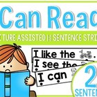 I Can Read!  Picture Assisted One-to-One Sentence Strips