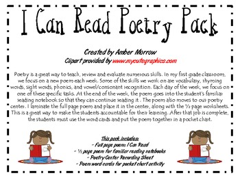 I Can Read Poetry Pack