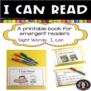 Sight Word Reader - I Can Read - BW