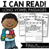 I Can Read Reading Fluency Passages Long Vowel Words | Dis