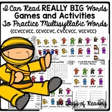Multisyllable words with Blends and Digraphs Games and Activities for Fluency