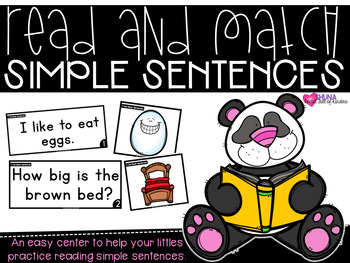 I Can Read Sentences {A Read and Match Center}