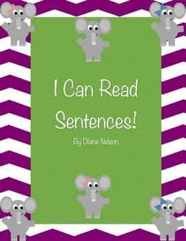 I Can Read Sentences! Elephant Theme