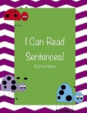 I Can Read Sentences! Ladybug Theme
