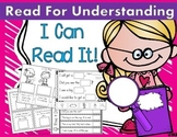 I Can Read Sentences for Understanding! Kindergarten Reading Comprehension