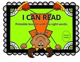 I Can Read Sight Word Booklet: a, run, and