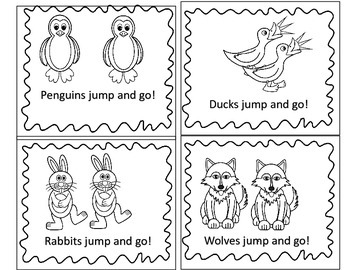 I Can Read Sight Word Booklet: jump and go